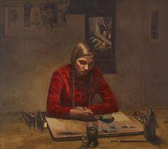 """Ola Billgren (1940-2001) """"Måleri"""" 1973"""