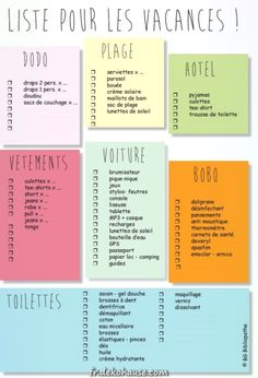 jpg liste pour savoir quoi empor… – Holiday and camping ideas Planner Organisation, Journal Organization, Travel Organization, Paint Colors For Living Room, Teaching French, Bujo, Good To Know, Bullet Journal, How To Plan