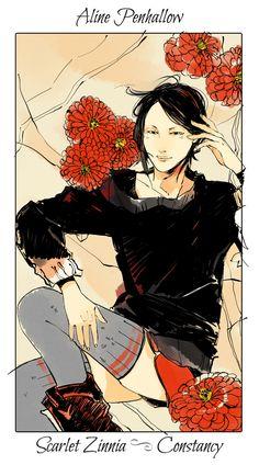 Aline Penhallow - Scarlet Zinnia (Constancy): Cassandra Jean: Shadowhunter Flowers Series: *Character belongs to Author Cassandra Clare and her Mortal Instrument series