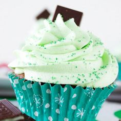 Homemade Minty Chocolate Cupcakes (4 of 4)