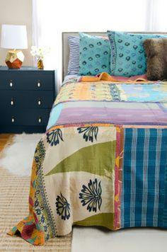 Kantha Quilt - Queen Bedding Set - CQ51