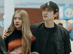Kpop Couples, Cute Couples, Becky G Outfits, Mom Milk, Aesthetic Hoodie, Young Park, Baby Park, Exo Couple, Love Scenes