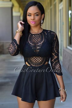 6000aa5c6ff BKLD 2017 black women Europe and America summer women Rompers lace  stitching perspective sexy perspective Sexy White Lace