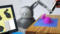 3ders.org - The 'Guided Hand' robot arm can turn your 3D printed pen messes into art   3D Printer News & 3D Printing News