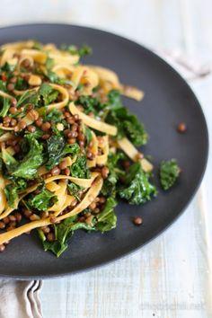 lehtikaalipasta2 I Love Food, A Food, Good Food, Food And Drink, Yummy Food, Vegan Food, Raw Food Recipes, Vegetarian Recipes, Cooking Recipes