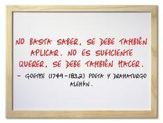 Goethe (1749-1832) Poeta y dramaturgo alemán. #citas #frases