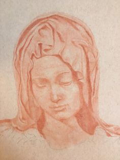 Madonna of the Pieta - almost completed - Mary Burkett, South Carolina artist.