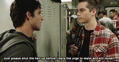 Tyler Posey (Scott) & Dylan O'Brien (Stiles) - Teen Wolf