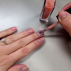 Using regular nail polish with uv top coat and light! A cheaper alternative for beautiful long lasting nails!