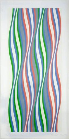 Bridget Riley's Op Art Paintings Continue to Mesmerize - Artsy Bridget Riley Artwork, Geometric Artists, Riley Blue, Hayward Gallery, A Level Textiles, Royal College Of Art, National Portrait Gallery, Abstract Pattern, Abstract Art