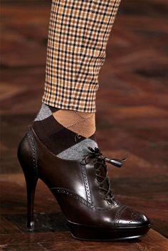 oxford heels forever. | detail from Ralph Lauren FW 2012-13