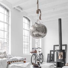Ceiling light, Amane, XL, silver   Zoco home