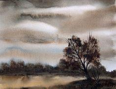 Jean Lurssen - watercolors: Overcast Morning