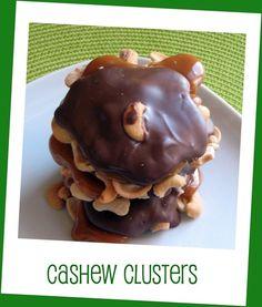 Cashew Turtle Clusters Gourmet Chocolate Caramel by NicolesTreats, $10.00