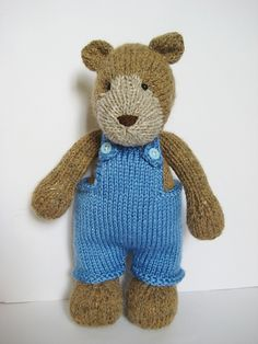 Ravelry: Teddy Bear with pinafore dress and dungarees pattern by Amanda Berry