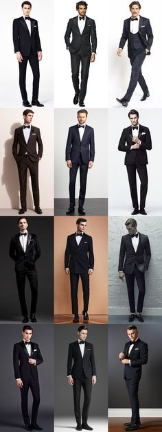 Men's Black Tie and Tuxedo Outfit Inspiration Lookbook