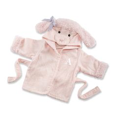 """Pretty in Pink"" Poodle Hooded Spa Robe Original Price: $35.00 Sale Price: $29.75 (15% off"