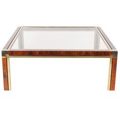 Brass and Faux Tortoise Coffee Table After Milo Baughman | From a unique collection of antique and modern coffee and cocktail tables at https://www.1stdibs.com/furniture/tables/coffee-tables-cocktail-tables/