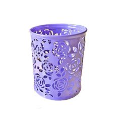Brilliant New And Hot Hollow Rose Flower Metal Pen Holder Office Desk Container Case Office & School Supplies