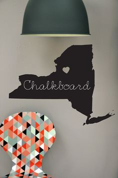 Hey, I found this really awesome Etsy listing at https://www.etsy.com/listing/158788605/personalized-state-chalkboard-wall-decal