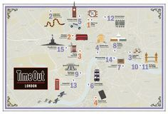 map of Harry Potter locations around London | from TimeOut London