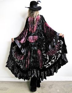 "Silk burnout velvet kimono/duster from Girl on a Vine ""World Turning"" (back view) http://www.girlonavine.com/product/world-turning"