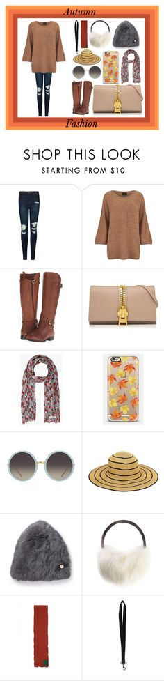 """""""Autumn Fashion"""" by very-berry-fashionista ❤ liked on Polyvore featuring J Brand, VILA, Naturalizer, Casetify, Linda Farrow, Yves Salomon, Barbour, Raf Simons, Givenchy and autumn"""
