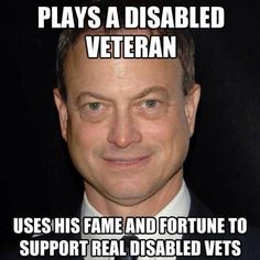 Funny pictures about Good guy Gary Sinise. Oh, and cool pics about Good guy Gary Sinise. Also, Good guy Gary Sinise. Gary Sinise, Faith In Humanity Restored, Support Our Troops, Real Hero, American Pride, Before Us, How To Raise Money, Good People, A Good Man