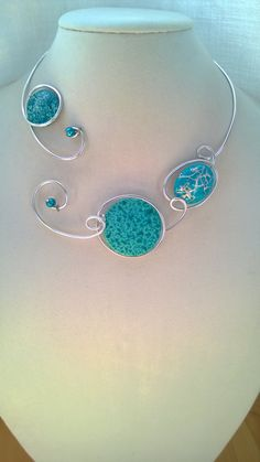 Collier en aluminium Open collier collier par LesBijouxLibellule