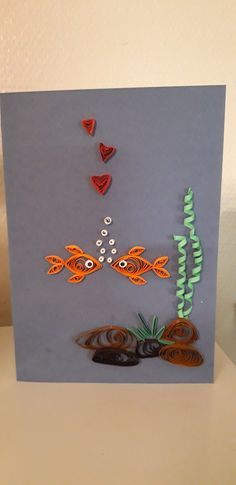 Quilling card. 😀 Quilling Paper Craft, Arte Quilling, Paper Quilling Flowers, Paper Quilling Patterns, Origami And Quilling, Origami Butterfly, Quilling Jewelry, Quilling Ideas, Quilling Birthday Cards