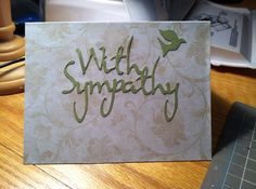 With Sympathy dove card  on Etsy, $4.00