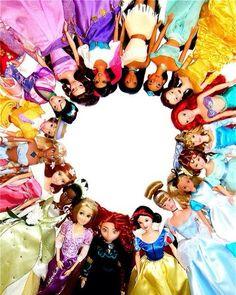 Disney Princess Dolls. I love love love Ariel and Rupunzel!