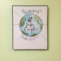 The Great Commission - Hand Lettering Typography Drawing by TheCreativeTypes on Etsy https://www.etsy.com/listing/223013286/the-great-commission-hand-lettering