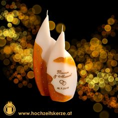 Hochzeitskerze Gold Designer, Christmas Ornaments, Fruit, Holiday Decor, Gold, Home Decor, Candles, Rustic, Homemade