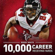 Congrats to Roddy White who has surpassed 10,000 career receiving yards! #RiseUp #ATLvsCAR