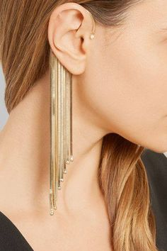 Unique gold earrings.