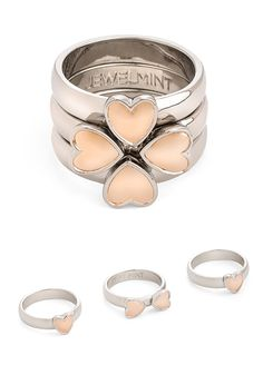 Queen of Hearts Ring. I want this someday! I think it would be cute if you put your kids birthdays carved in the inside of each ring :)
