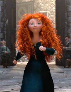 "Five Film Facts Brave | ""Pixar spent nearly three years developing two unique software systems: one program coordinated the movement of 1,500 separate curls, the other created a seamless relationship between Merida's hair and her movements."""