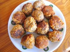 """Hell Yes!!!! """"cheesy"""" vegan sausage balls. Made this for a holiday party and they were a hit! Serve with spicy mustard or vegan ranch."""
