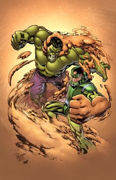 Hulk vs Sandman by Carlo Pagulayan