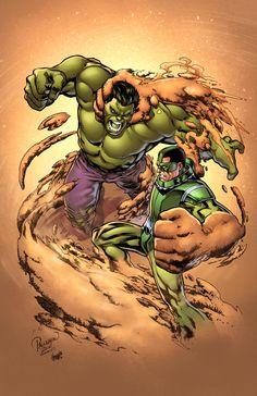 Hulk vs Sandman by Carlo Pagulayan