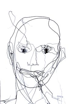 "Saatchi Online Artist: Darko Taleski; Pen and Ink, 2011, Drawing ""Portrait11"""