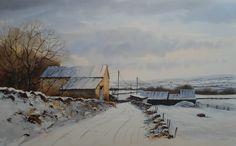 Geoff Kersey's winter scene in watercolour - see the video lesson now on ArtTutor.com