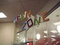 Waukesha, WI Public 3-07 037 by Kimberly Bolan Cullin, via Flickr Teen Library Space, Library Ideas, Kid Spaces, Game Room, The Neighbourhood, Public, Games, The Neighborhood, Game Rooms