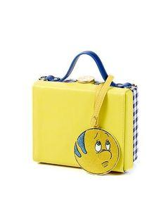 HIGH CHEEKS Color Block Trunk Bag Yellow #littlemermaid #disney #highcheeks #flounder