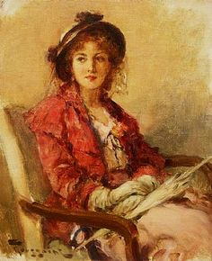 """Fernand Toussaint, """"Seated Woman with Parasol"""""""