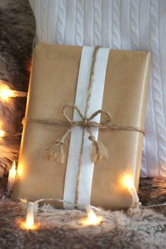 Brown paper can make for simple yet elegant gift wrapping once you add a nice ribbon, twine or raffia of your choice  #giftwrap