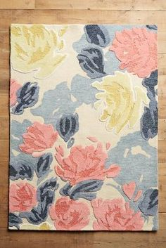Anthropologie Rose Relief Rug #anthrofave