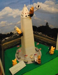 Peeps Washington Monument Created by Peter Hmel