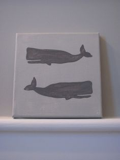 Whale canvas- an idea to consider